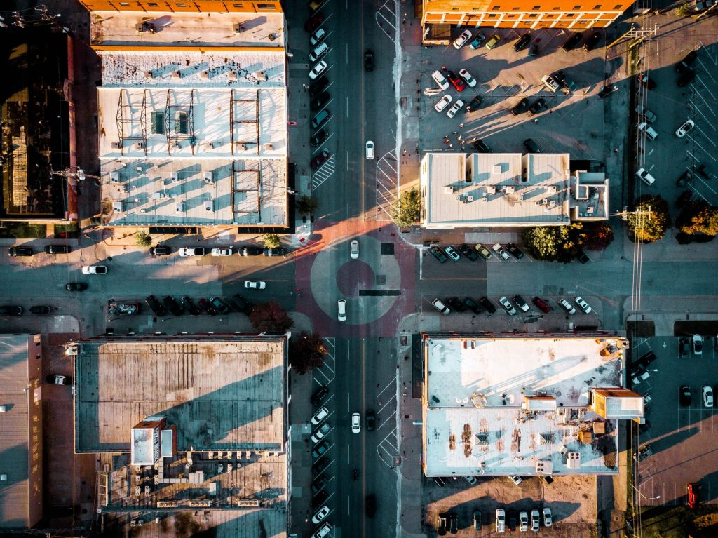 bird eye view photography of high-rise buildings